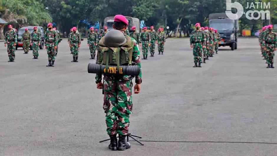 Prajurit Yonif 3 Brigif 2 Marinir Pasmar 2 Siap Diterjunkan ke Lokasi Bencana Alam